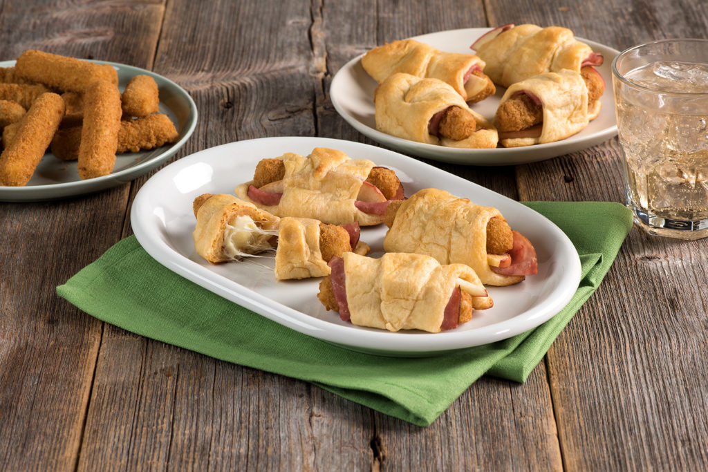 Ham and Cheese Turnovers with Apples using Farm Rich Mozzarella Sticks
