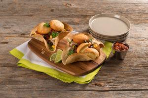 Cheesy Chicken Taco Bowl with Farm Rich Mozzarella Bites