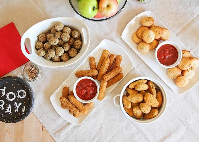 back to school snack spread